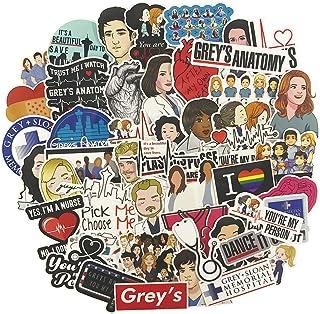 Grey's Anatomy Laptop Stickers 50pcs, TV Trendy Vinyl Computer Waterproof Water Bottles Skateboard Luggage Decal Graffiti ...