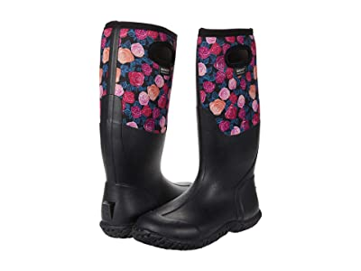 Bogs Mesa Water Roses (Black Multi) Women