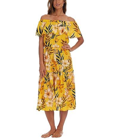 La Blanca Belle Fiore Off-the-Shoulder Dress