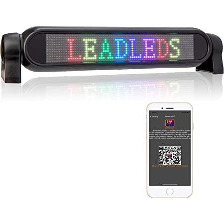 Cloverly Panneau de signalisation de Message Rouge de d/éfilement programmable de Signe de Voiture de 12V LED avec Le Mini /écran /à t/él/écommande de la publicit/é LED 7x40 Points