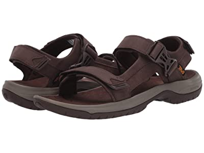 Teva Tanway Leather (Chocolate Brown) Men