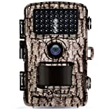"Foxelli Trail Camera – 14MP 1080P Full HD Wildlife Scouting Hunting Camera with Motion Activated Night Vision, 120° Wide Angle Lens, 42 IR LEDs and 2.4"" LCD ..."
