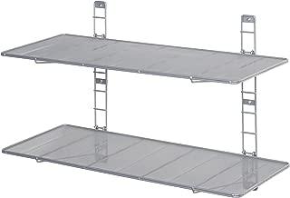 Seville Classics 2-Tier Iron Mesh Adjustable Floating Wall Shelves, 36