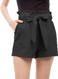 GRACE KARIN Women Bowknot Tie Waist Summer Casual Shorts with Pockets Summer