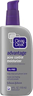Clean & Clear Advantage Acne Control Face Moisturizer with Salicylic Acid Acne Medication, Non-Greasy Oil-Free Facial Loti...