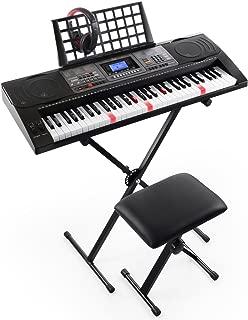 Joy 61-Key Lighted Touch Sensititive & USB-Midi(App) Keyboard Kit with Stand, Stool, Headphone & Power Supply (KL-92UT-KIT)