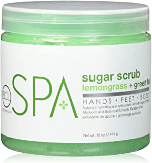 BCL SPA Sugar Scrub Lemongrass + Green Tea,16 oz
