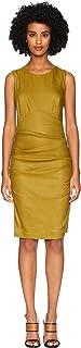 فستان Nicole Miller من الكتان المرن الصلب للسيدات X-Back
