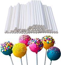 400 Pcs White 10cm/4in Lollipop Sticks,Cake Pop Sticks,Sucker Sticks for Cookies,Rainbow Candy,Chocolate,Cake Topper