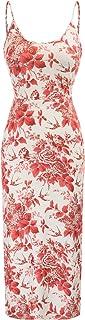 Women's Casual Dresses Sleeveless Split Floral Print...