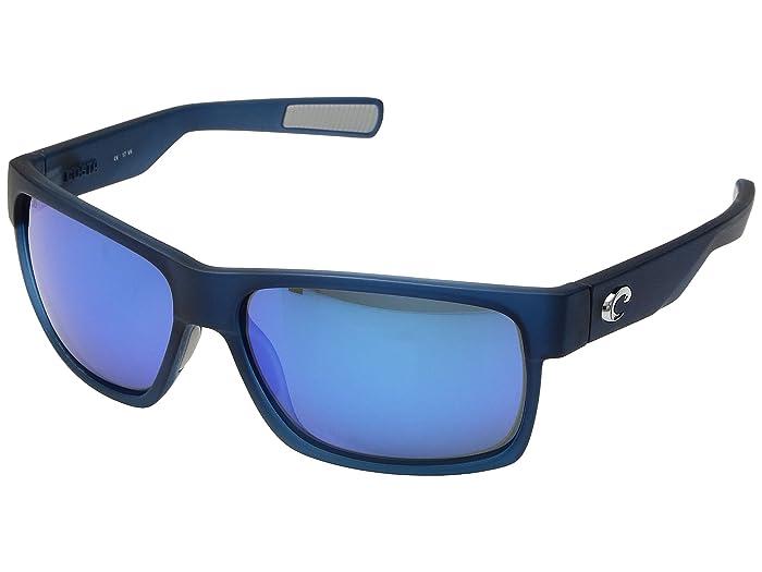 Costa  Half Moon (Bahama Blue Fade/Blue Mirror 580G) Athletic Performance Sport Sunglasses