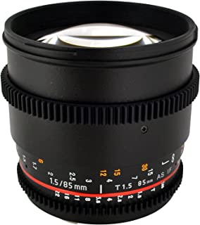 Rokinon Cine CV85M-MFT 85mm T1.5 Cine Aspherical Lens for Micro Four-Thirds 85-85mm Fixed Lens for Olympus/Panasonic Micro 4/3 Cameras