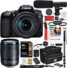$1599 » Canon EOS 90D DSLR Digital SLR Camera with EF-S 18-135mm f/3.5-5.6 is USM Lens Kit and Deco Gear Deluxe Gadget Bag Case Bundle + Microphone + Monopod + Filter Set + 64GB Memory Card & Accessories