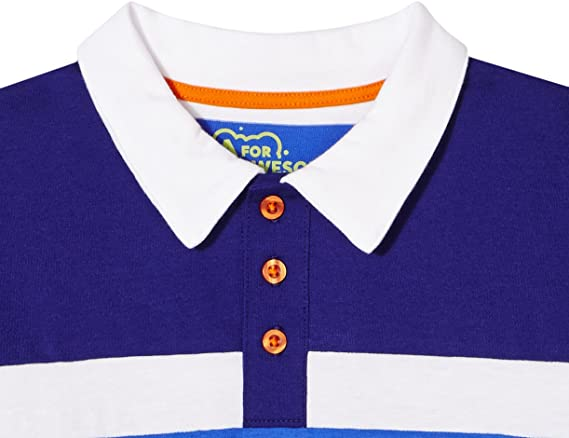 A for Awesome Boys Long Sleeve Cotton Jersey Blend Polo Shirt