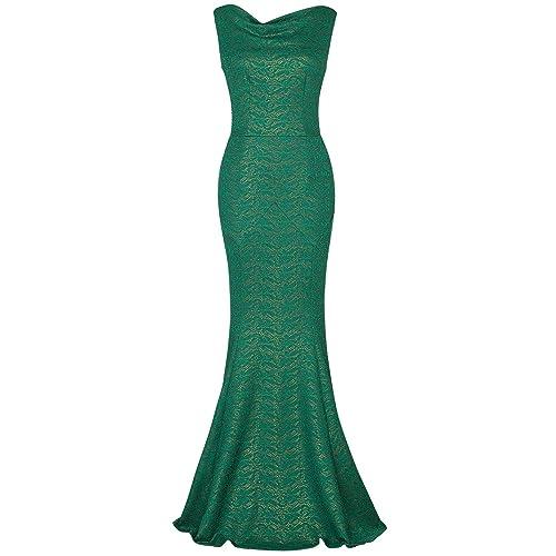 21f265ba00011 MUXXN Women s 30s Brief Elegant Mermaid Evening Dress Green