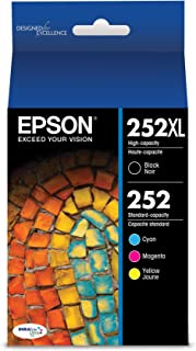 EPSON T252 DURABrite Ultra Ink High Capacity Black & Standard Color Cartridge Combo Pack (T252XL-BCS) for select Epson Wor...