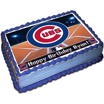 Swell Amazon Com Mlb Home Run Chicago Cubs Decoset Cake Topper Funny Birthday Cards Online Ioscodamsfinfo