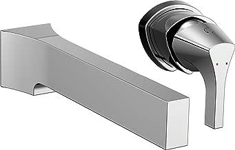 Delta Faucet T574LF-WL Zura Single Handle Wall Mount Bathroom Faucet Trim, Chrome