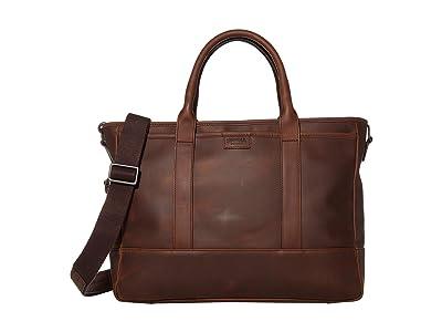 Shinola Detroit Brief Tote Navigator (Medium Brown) Bags