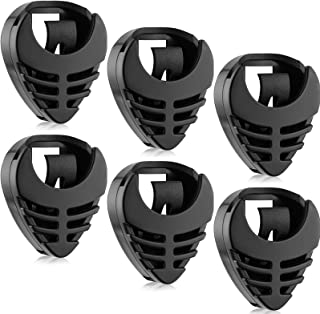 6 Pieces Pick Holder Stick-on Guitar Pick Holder Black Plastic Easy to Paste on the Guitar with Adhesive Back and Spring G...