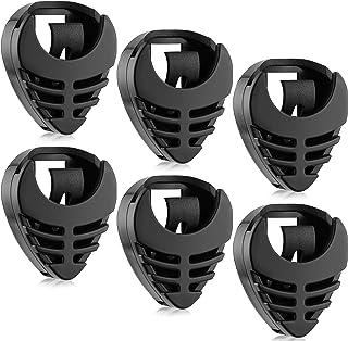 6 Pieces Pick Holder Stick-on Guitar Pick Holder Black...