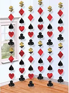 amscan 678905 Casino String Decoraties - 6 stuks