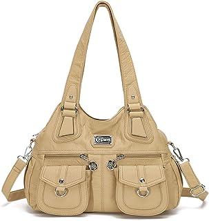 KL928 Tasche Damen Handtasche Umhängetasche shopper damen Henkeltaschen Damenhandtasche damentasche Lederhandtasche Hand Taschen für frauen 1593-2-grey