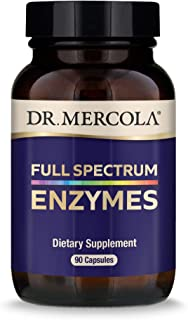 Dr. Mercola, Full Spectrum Enzymes Dietary Supplement, 30 Servings (90 Capsules), Digestive Support, Non GMO, Soy Free, Gl...
