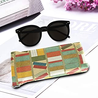 DoubleCW Bookshelf Microfiber Sunglasses Glasses & Cell Phone Gadgets Accessories Sleeve Bag Pouch Protection Storage