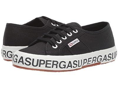 Superga 2750 Cotw Outsole Lettering Sneaker (Black/White) Women