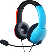 PDP 500-162-NA-BLRD Nintendo Switch LVL40 Wired Stereo Headset Joycon Blue/Red,..