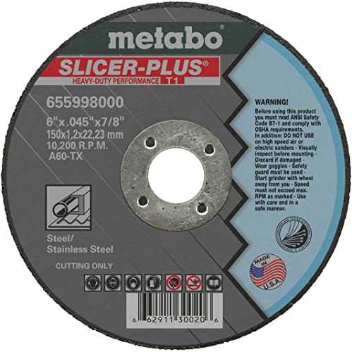 """high quality Metabo 655998000-50PK new arrival 6"""" Slicer Plus Cutting new arrival Wheel (50pk) online"""