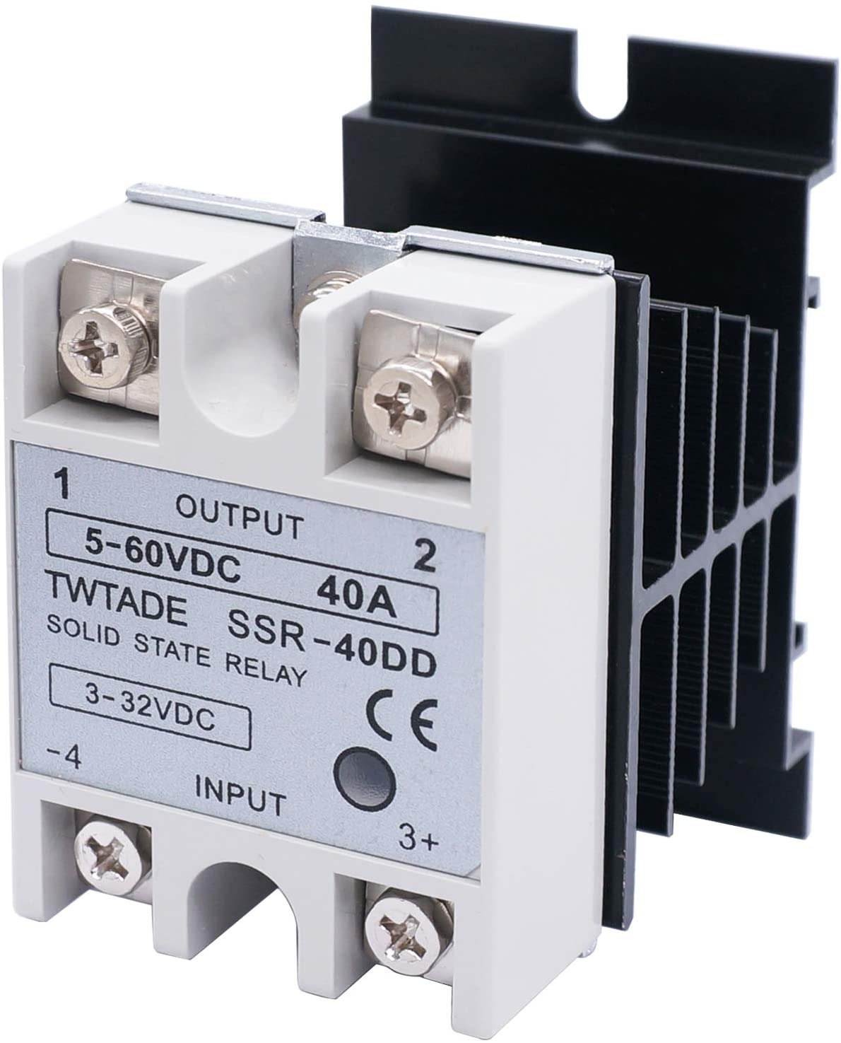 TWTADE SSR-40 DD 40A DC 3-32V to DC 5-60V SSR Solid State Relay