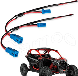 Camoo 2PCs X3 Accessory Wiring Pigtail Power Port Pigtail Wiring Wire Harness Pigtail Connectors for Can-Am Maverick X3