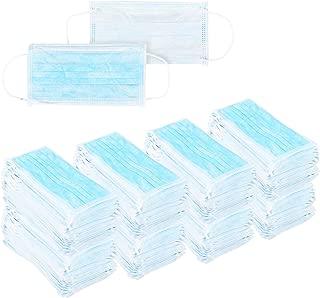 Juvale Pack of 400 Disposable Face Masks - Medical Mask - Allergy Mask - Dental Mask - Flu Mask, Blue