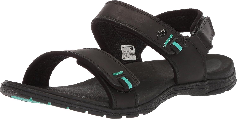 New Balance Women's Traverse Leather Sandal Black 12 D D US