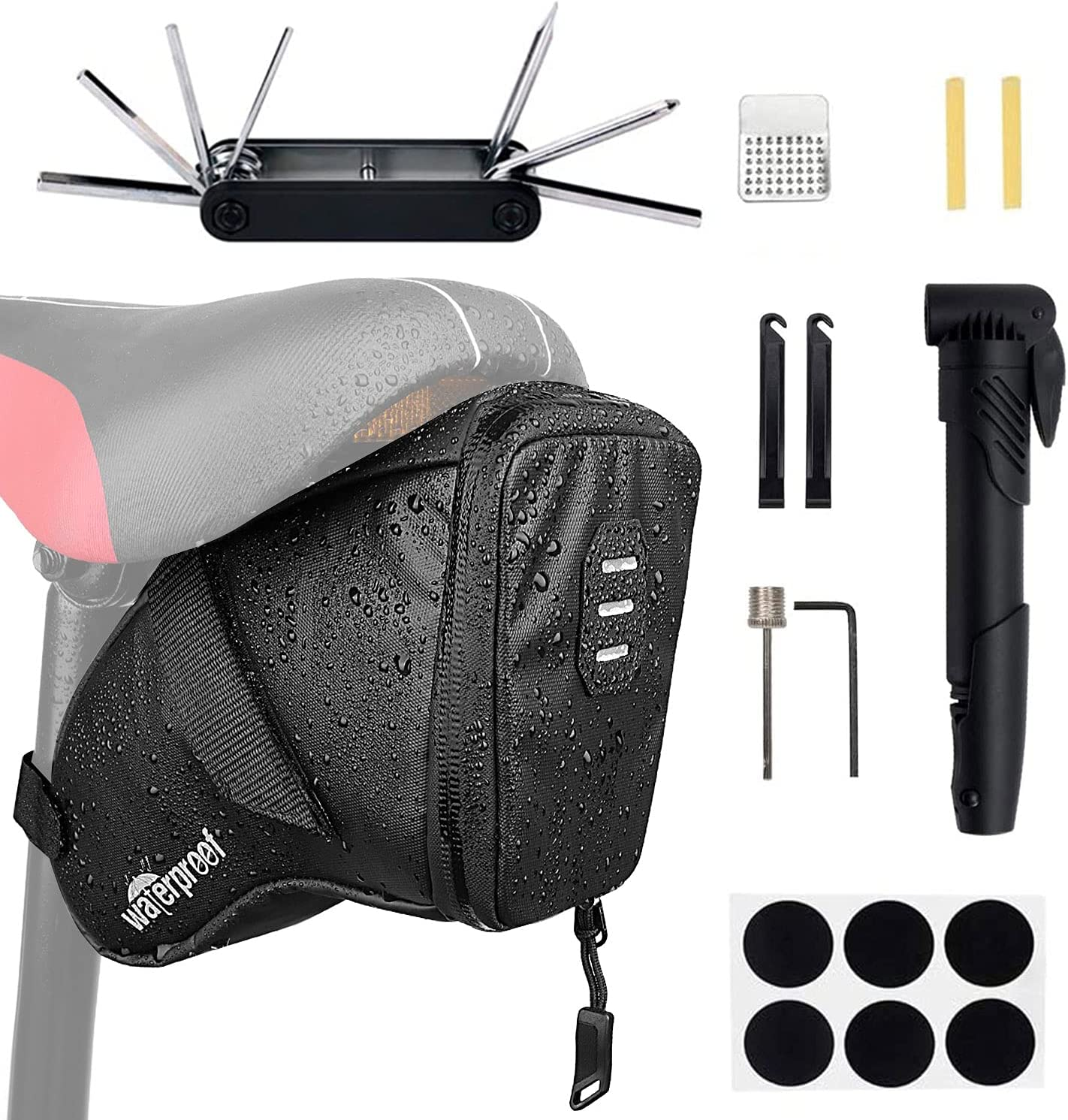 WOTOW Bike Tyre Directly Challenge the lowest price managed store Repair Kits Bag 120 Waterproof Saddle Bicycle
