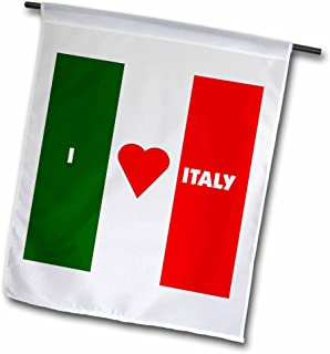 3dRose fl_55211_1 I Love Italy II Garden Flag, 12 by 18-Inch