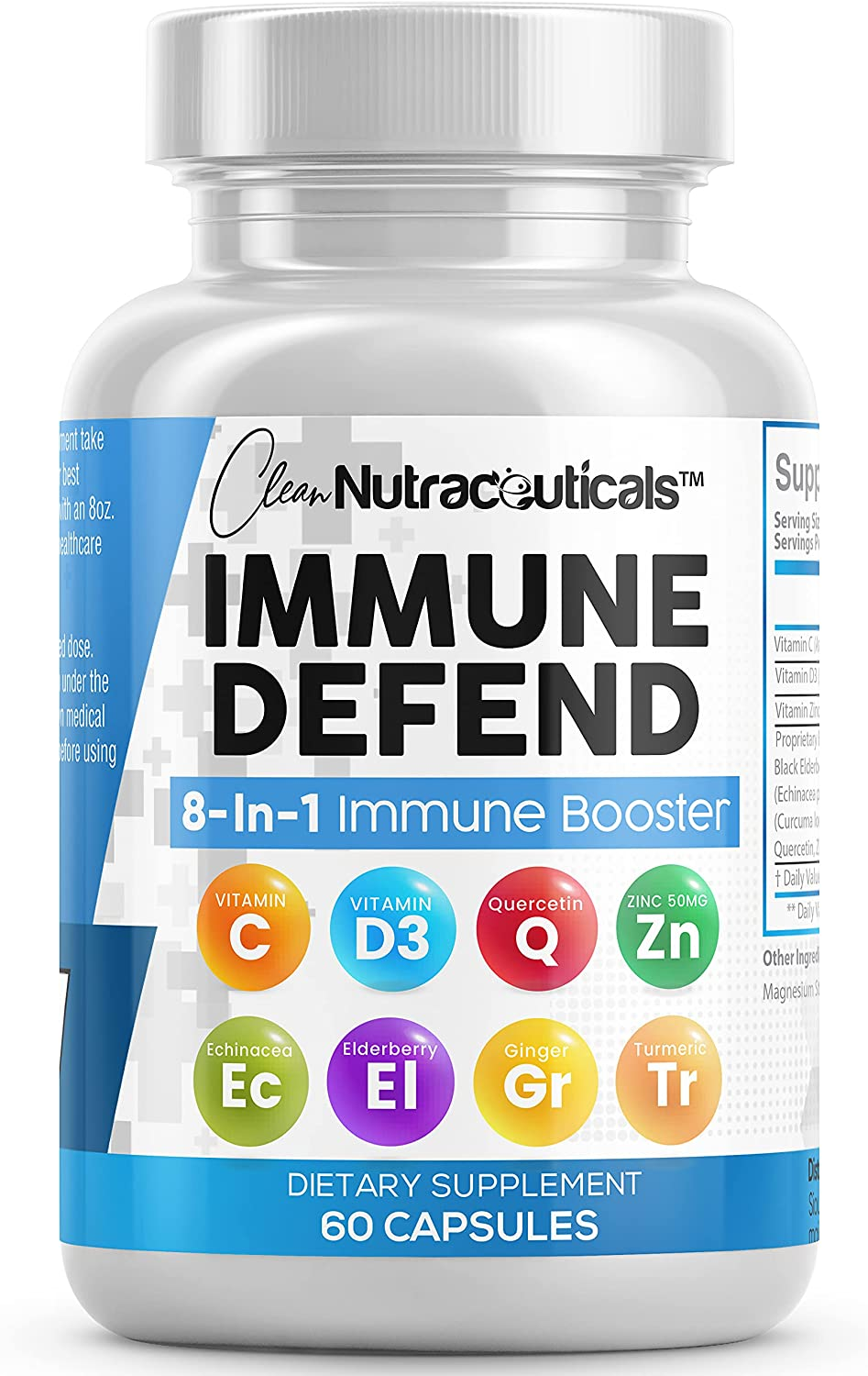 8 in 1 Immune System Max 66% OFF Booster Vitamin 50 w D3 Ultra-Cheap Deals Supplement Support