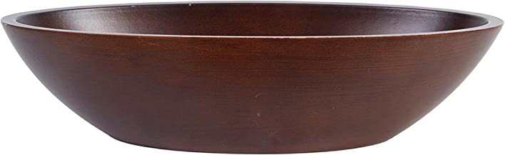 Hosley Dark Brown Wood Bowl 14 and a Half Inches Long Ideal Gift for Weddings Spa Reiki Decor Home Office Settings for Use with Dry Potpourri or Decorative Orbs O4