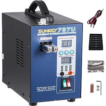 SucceBuy Machine De Soudage Par Point LED Portable Soudeuse A Main Batterie Safe Portable Steel Stainless Protection Efficient Stable Safety 220V Professional 709AD3