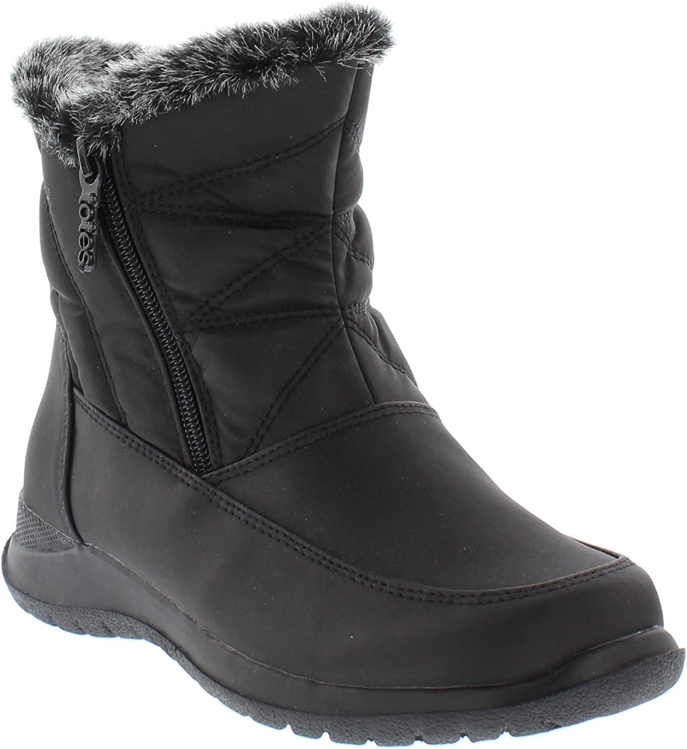 Totes Womens Cold Weather Boots with Dual Side Zippers Dalia Waterproof Insulated - Winter Boots for Comfort - Keeps Feet Warm & Dry - Available in Medium and Wide Width
