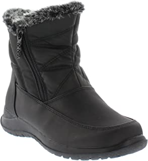 Womens Cold Weather Boots with Dual Side Zippers (Dalia) Waterproof Insulated - Winter Boots for Comfort - Keeps Feet Warm & Dry