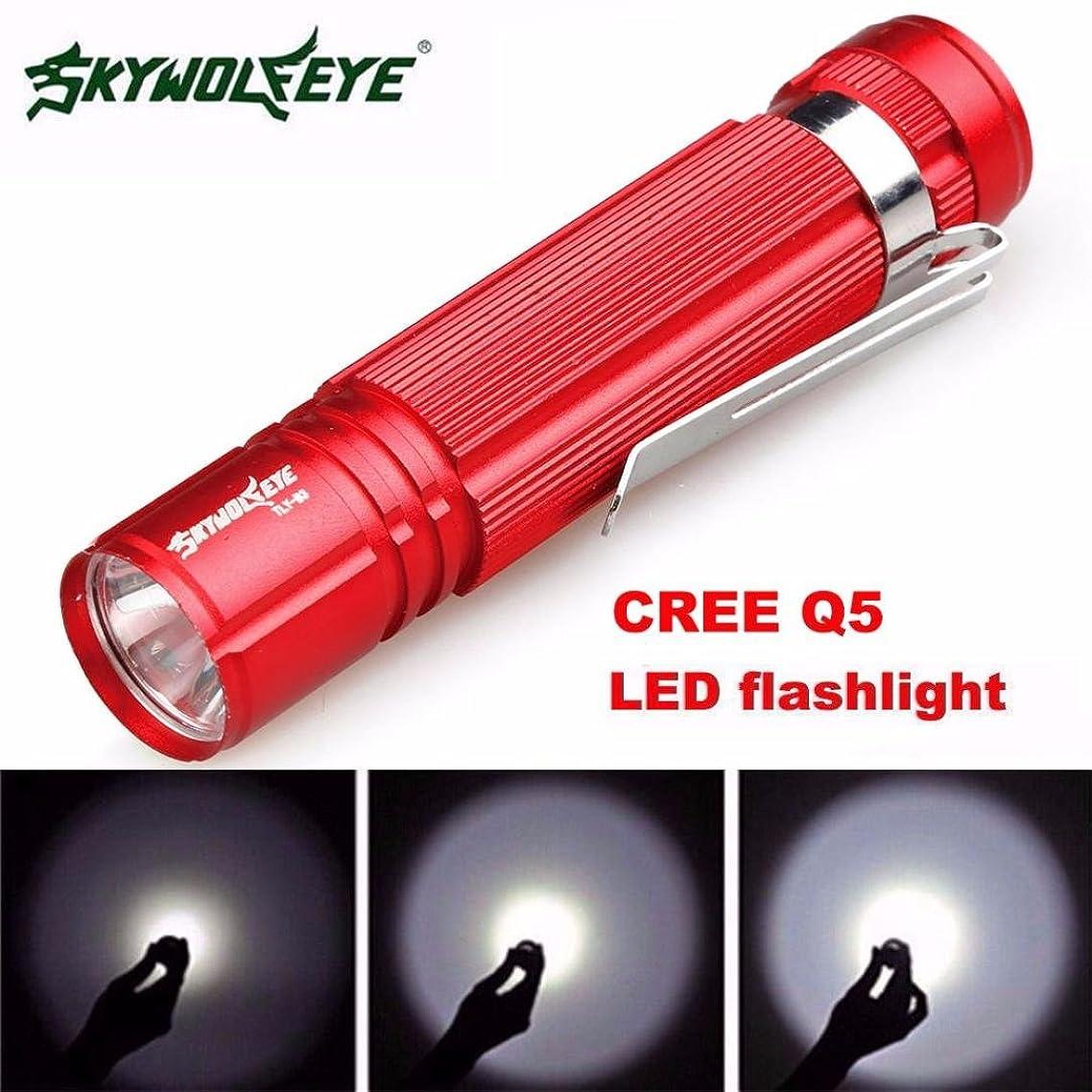 Flashlight,Baomabao 7W CREE Q5 LED 1200lm Mini Flashlight Torch Light 14500/AA Lamp Waterproof_Red