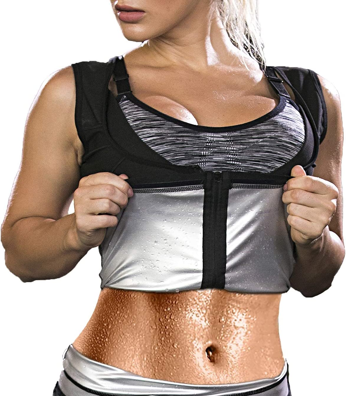 New popularity OMGREAT Women Factory outlet Hot Sweat Sauna Suit Slim Tank Top Workout Premium