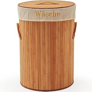 SSITG Cesto bambú colada baúl Caja 100L Cesto Contenedor