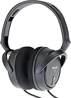 """Philips Over Ear Wired Stereo Headphones for Podcasts, Studio Monitoring and Recording Headset for Computer, Keyboard and Guitar with 6.3 mm (1/4"""") Add On Adapter"""