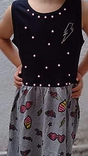 Vestido Infantil Customizado Docinho Com Pérolas E Strass Tamanho 8