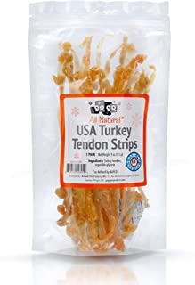 GoGo Turkey Tendon Strips Dog Chew Treats Sourced and Made in The USA