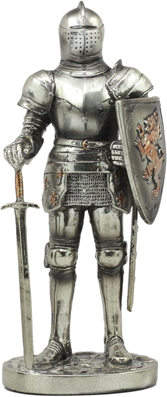 moda clasica Medieval Knight 7 de alto FORT KEEP Estatua Figura Figura Figura de guardia de Sentry traje de Armor libre regalo de colgante  saludable